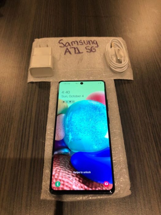 Samsung A71-5G front